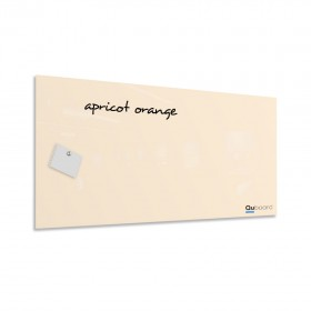 Apricot orange magnetic glassboard LABŌRŌ