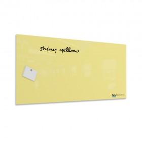 Shiny yellow magnetic glassboard LABORO
